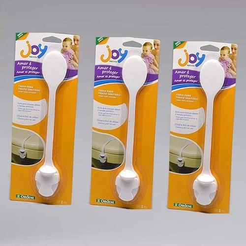 Trava Para Tampo Sanitário Ordene Proteção para o Bebê | Kit 3 Travas