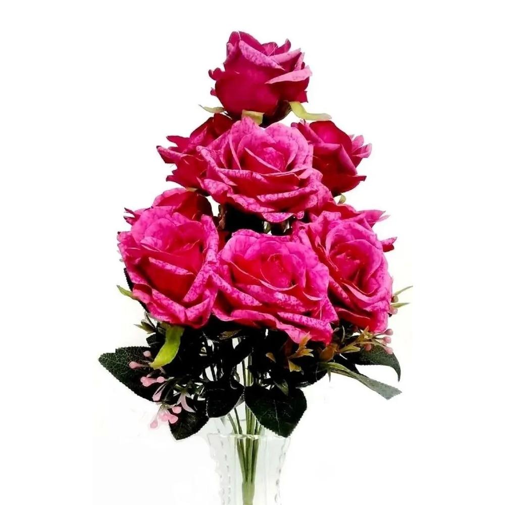 Rosa Envelhecida Buquê com 9