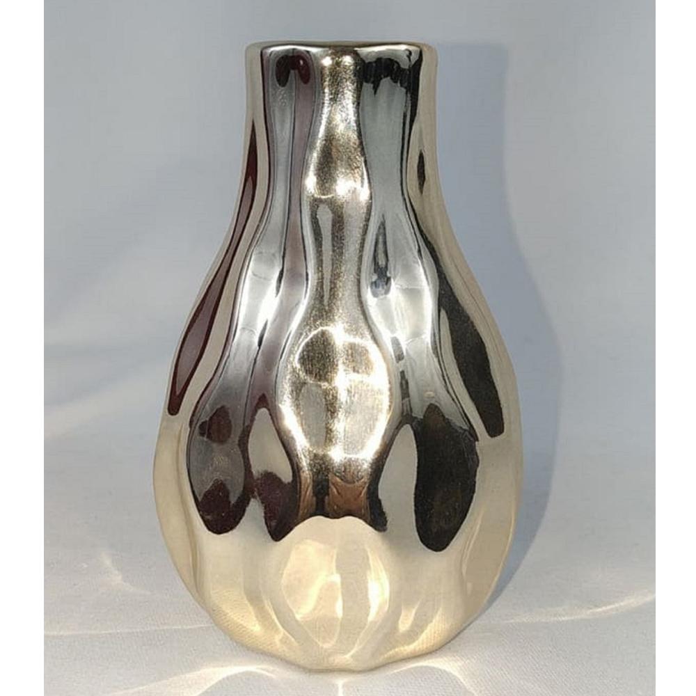Vasos De Cerâmica Dourado Bari