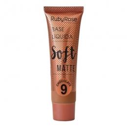 Base Líquida Ruby Rose Matte Cor: Chocolate 9 - 29ml