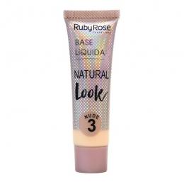 Base Líquida Ruby Rose Matte Natural Cor: Nude 3 - 29 ml