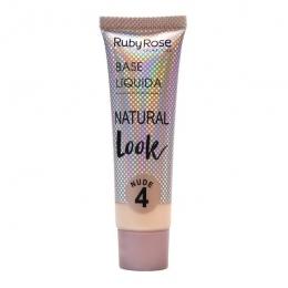 Base Líquida Ruby Rose Matte Natural Cor: Nude 4 - 29ml
