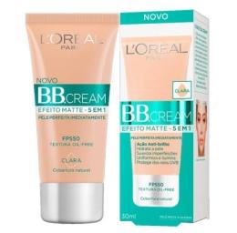 BB Cream L'oréal Paris - Efeito Matte 5 Em 1 Fps 50 - Média