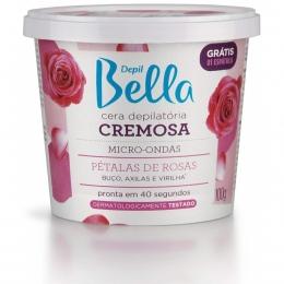 Cera Depilatória Depil Bella Para microondas Pétalas De Rosas - 100g