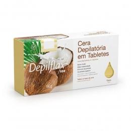 Cera Depilatória Depilflax Em Tabletes de Coco - 1kg