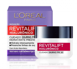 Creme Anti-idade Revitalift L'Oréal Paris Hialurônico Diurno FPS 20 - 49g