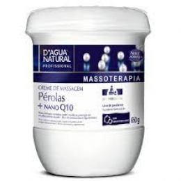 Creme De Massagem Pérolas  + Nano Q10 D´Agua Natural - 650g