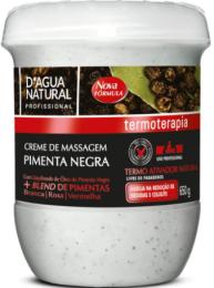 Creme De Massagem Pimenta Negra D´Agua Natural - 650g