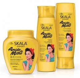 Kit Amido de Milho Skala - Shampoo + Condicionador + Máscara