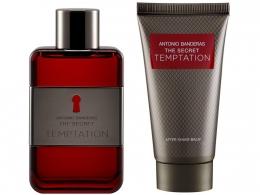 Kit Antonio Banderas The Secret TEMPTATION Masculino - 2 Produtos