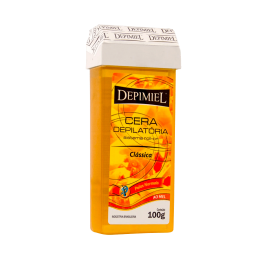 Kit c/ 10 Cera Depilatória Roll-On Depimiel - Clássica Natural 100g