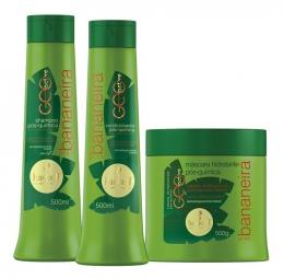 Kit Haskell Bananeira 500ml - Shampoo + Condicionador + Máscara