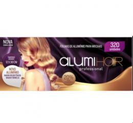 Papel Alumínio Para Mechas Alumi Hair  - Medida 12 x 30cm - Contém 320 Unidades