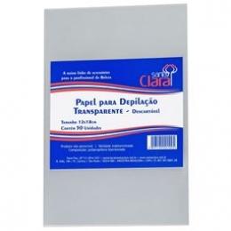 Papel Santa Clara Transparente Para Depilação - 50 Unidade