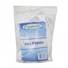 Touca Higiênica Branca Higipratic - 25 Unidades