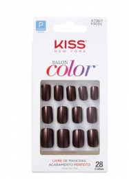 Unhas Postiças Kiss New York Salon Color - Curto 67357
