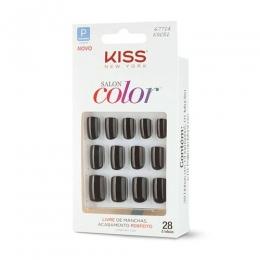 Unhas Postiças Kiss New York Salon Color Curto - KSC51