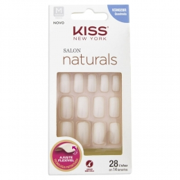 Unhas Postiças Kiss New York Salon Naturals - Quadrado Médio KSN02BR