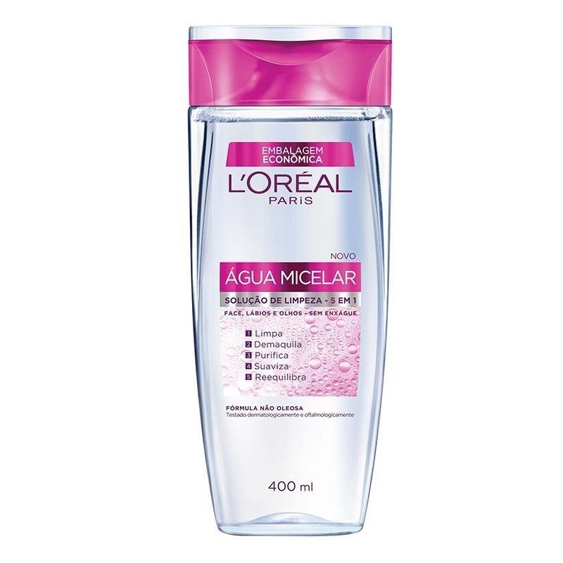 Água Micelar L'Oréal Paris 5 em 1- 400ml