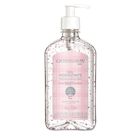 Álcool em Gel Higienizante Giovanna Baby Classic - 500 ml 70º GL | 70° INPM