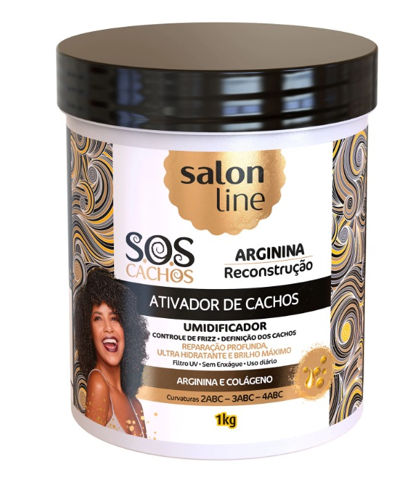 Ativador de Cachos Salon Line S.O.S Cachos Arginina - 1Kg