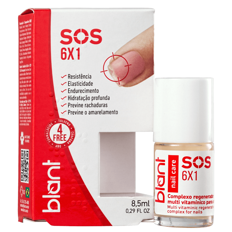 Base Blant De Unhas Sos 6x1 - 8,5ml