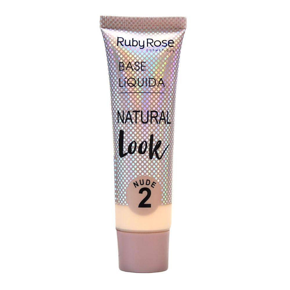 Base Líquida Ruby Rose Matte Natural Cor: Nude 2 - 29ml