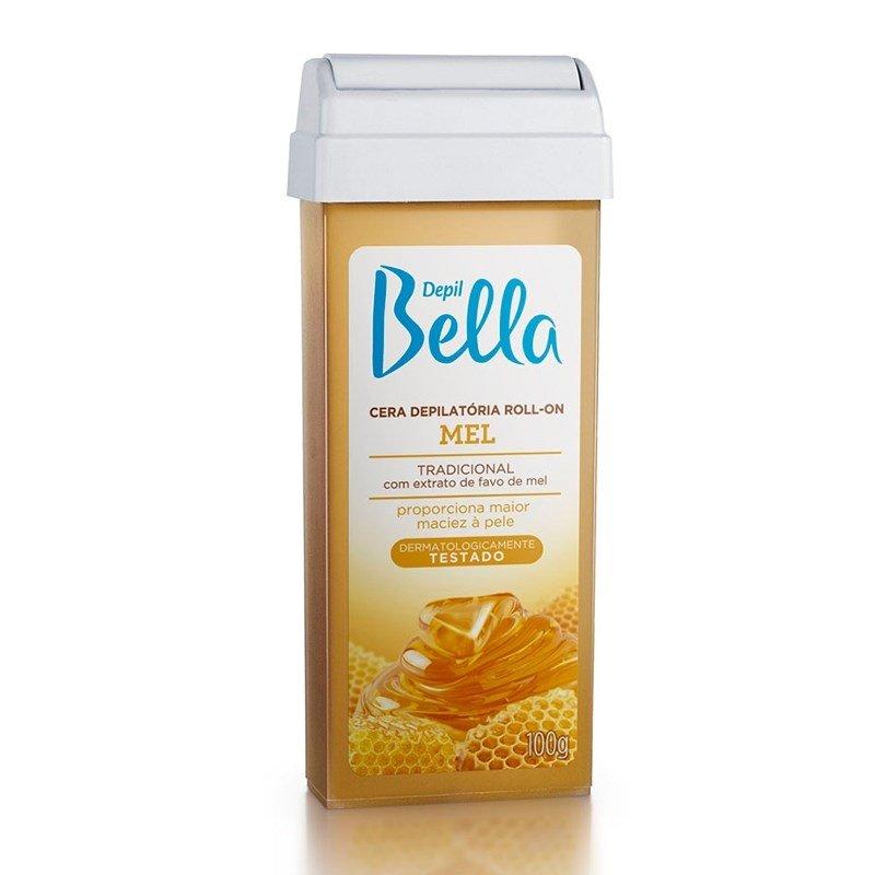 Cera Depilatória Depil Bella Roll-On - Mel 100g