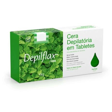Cera Depilatória Depilflax Em Tabletes Hortelã - 1kg