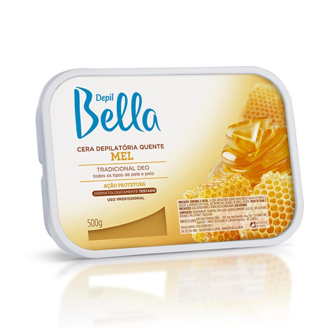 Cera Depilatória Quente Depil Bella Mel - 500g