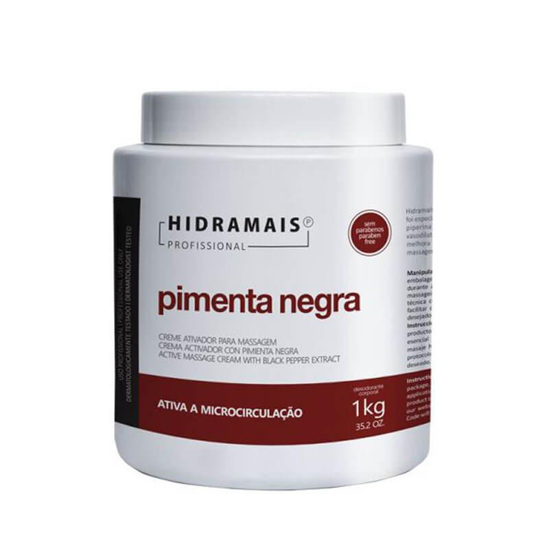 Creme De Massagem Modeladora Pimenta Negra Hidramais - 1kg