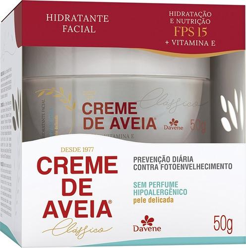 Creme de Aveia Davene Hidratante Facial Sem Perfume  - Pele Delicada 50g