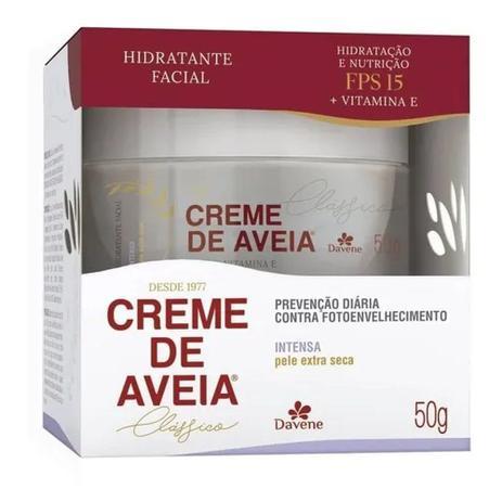Creme Hidratante Facial De Aveia Davene - Pele Extra Seca 50g