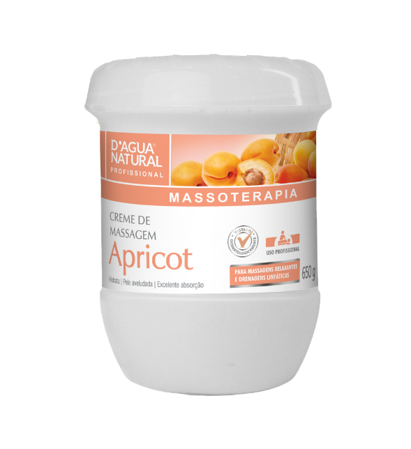 Creme Massagem Apricot D´Agua Natural - 650g