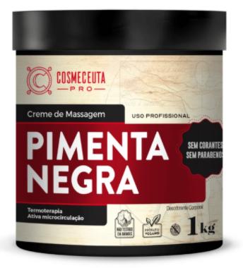 Creme  Massagem Pimenta Negra Cosmeceuta - 1kg