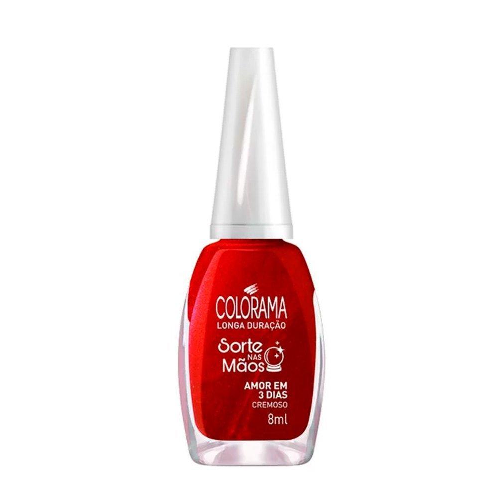 Esmalte Colorama Sorte Nas Mãos Amor Em 3 dias Cremoso - 8 ml