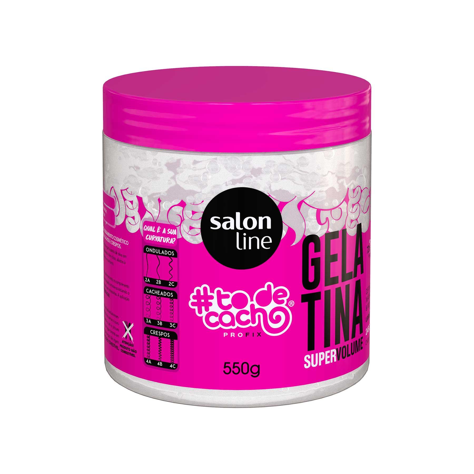 Gelatina Salon Line #todecacho Super Volume  - 550g