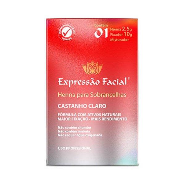 Henna Para Sobrancelhas Expressão Facial - Castanho Claro 2,5g
