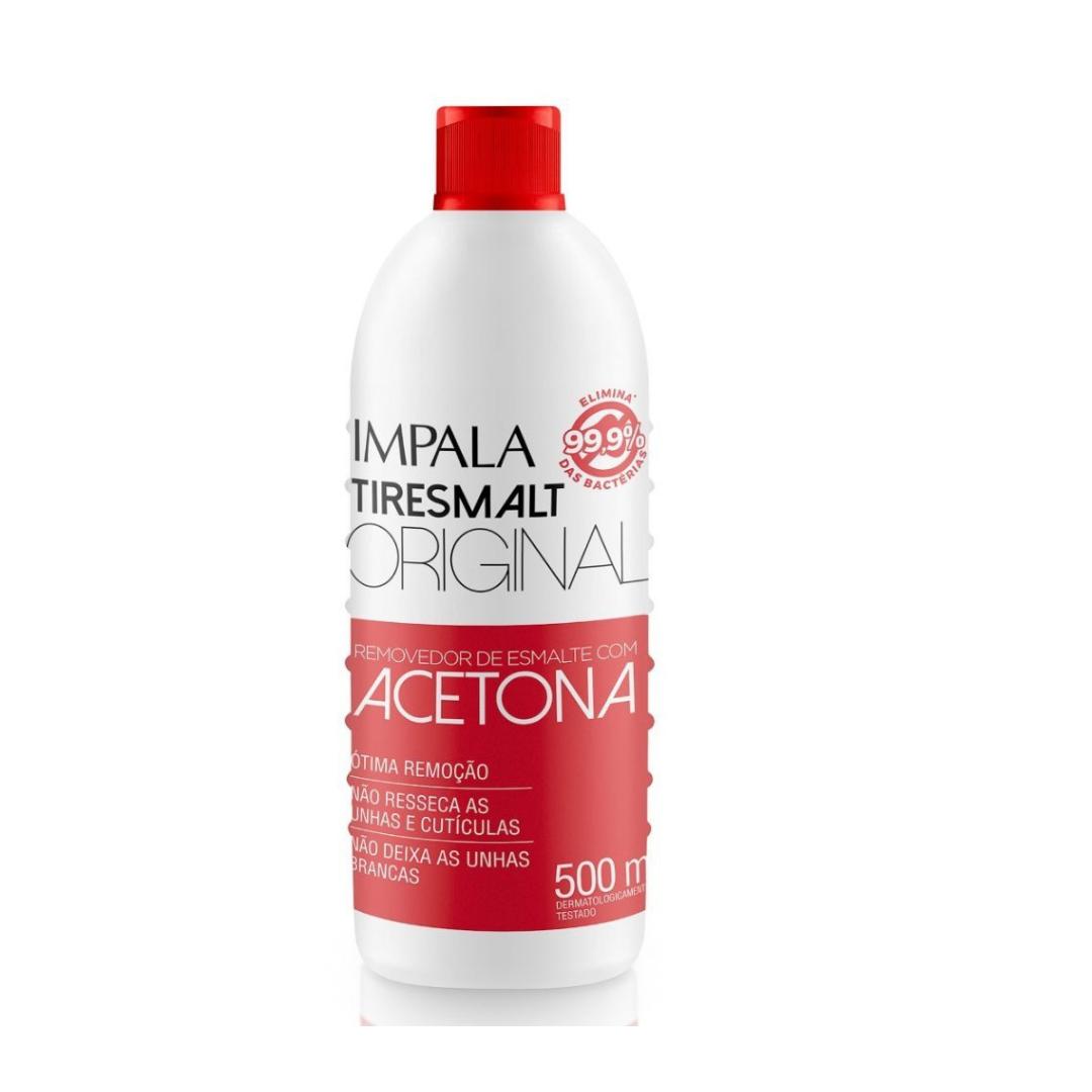 Impala  Tiresmalt Removedor De Esmalte -  Com Acetona 500ml