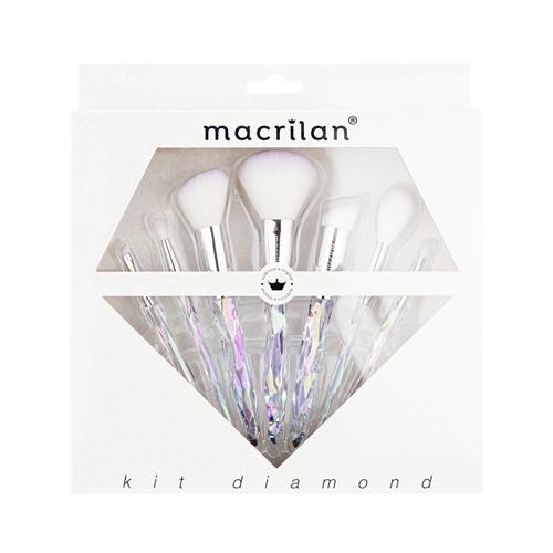 Kit C/7 Pincéis Diamond Macrilan ED003