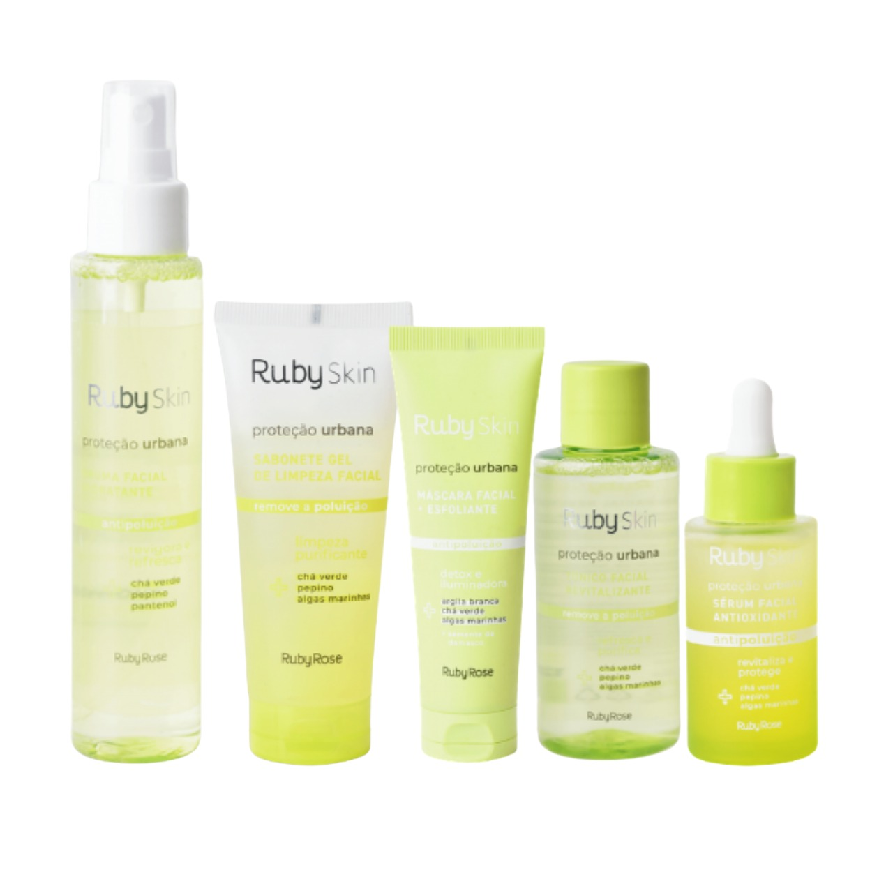 Kit Ruby Skin Proteção Urbana  Ruby Rose - 5 Produtos