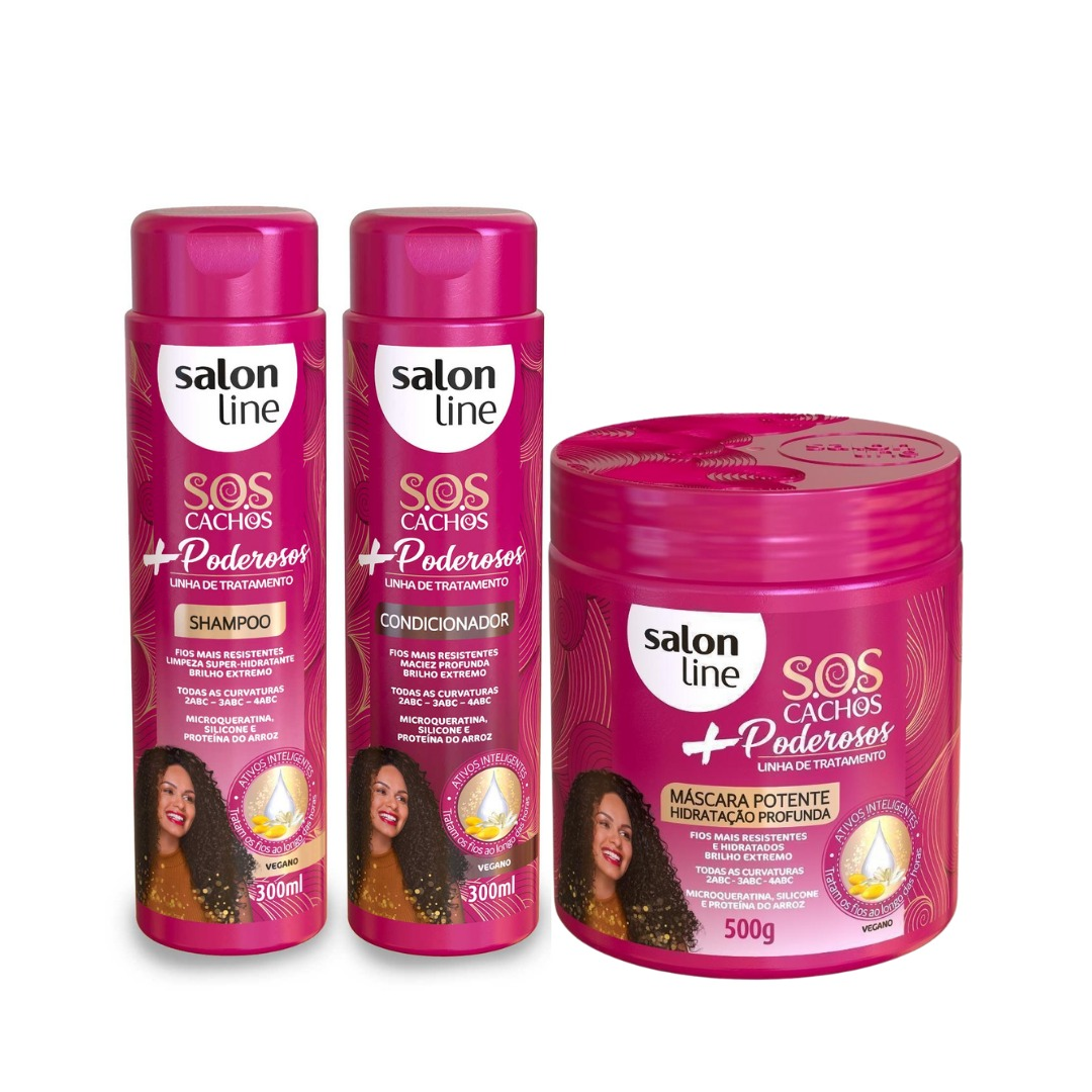 Kit Salon Line S.O.S Cachos + Poderosos - 3 Produtos