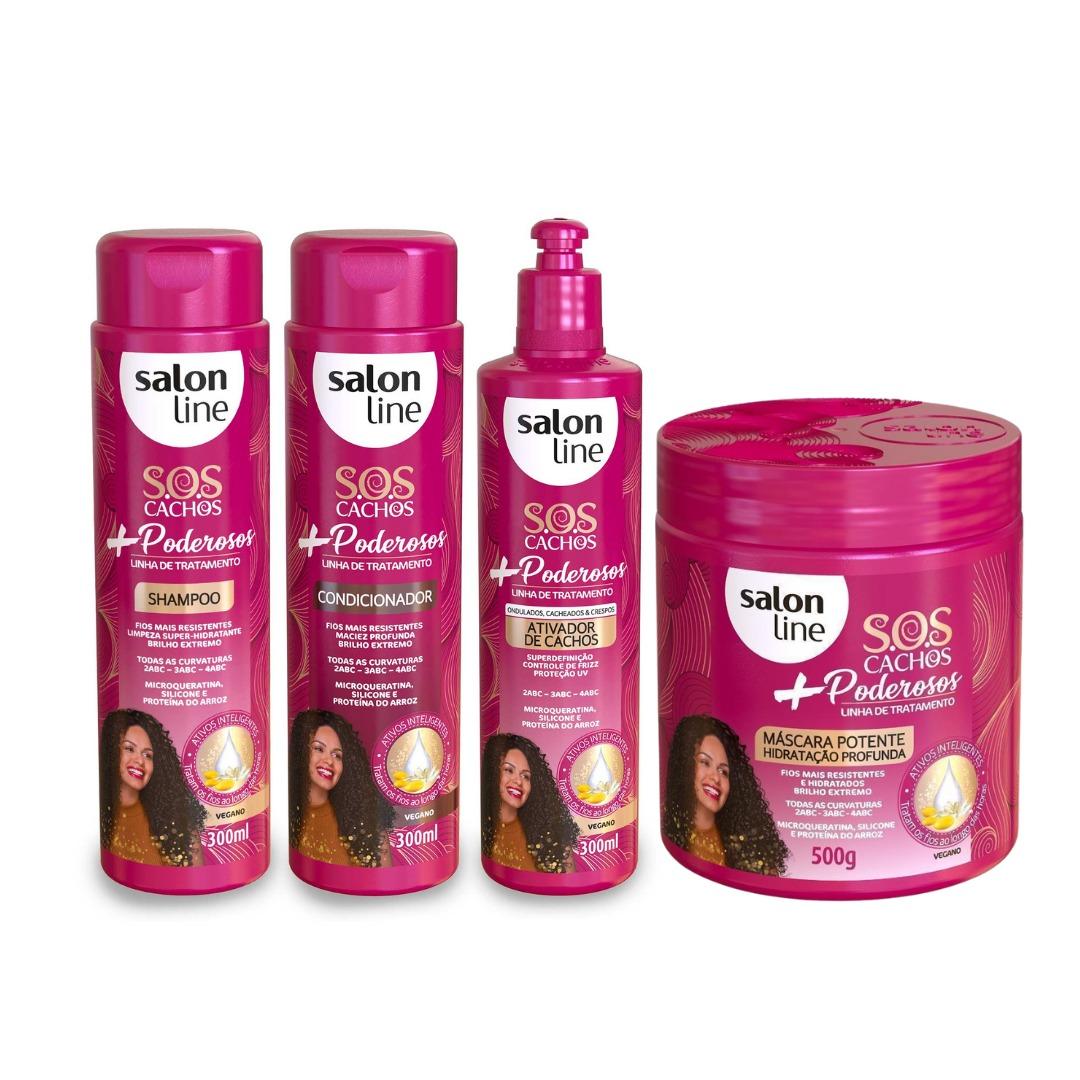 Kit Salon Line S.O.S Cachos + Poderosos - 4 Produtos