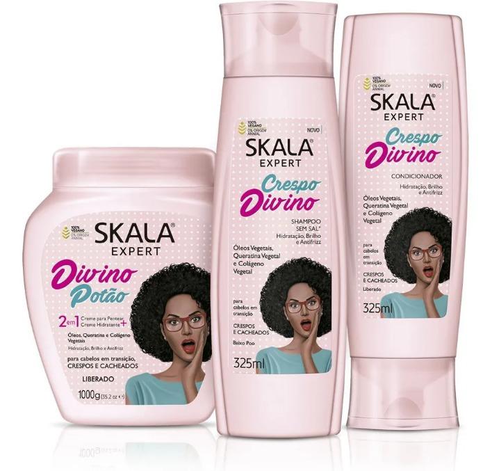 Kit skala Crespo Divino - Shampoo + Condicionador + Máscara