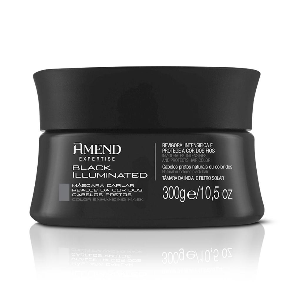 Máscara de Hidratação Amend Realce da Cor Black Illuminated  - 300g