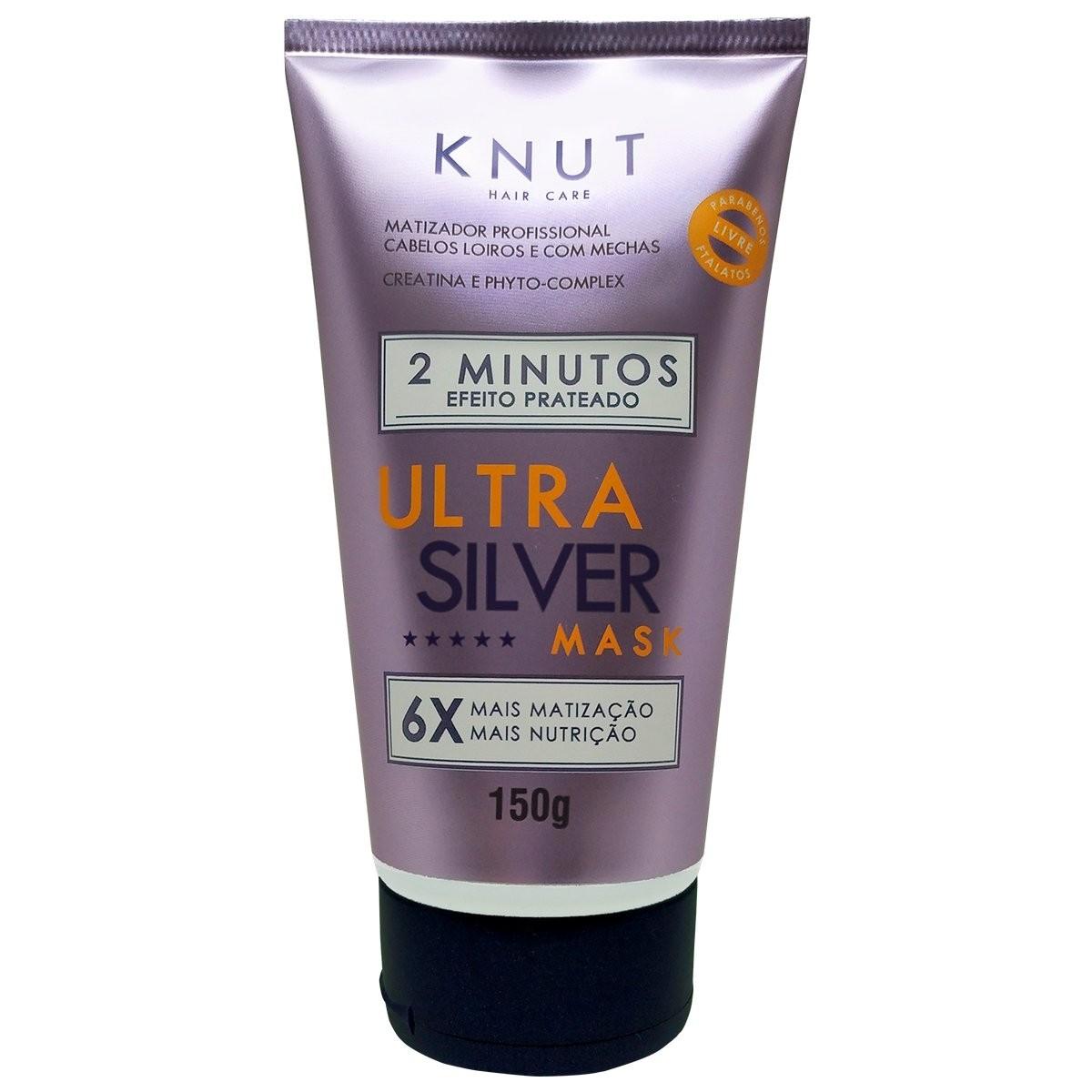 Máscara de Hidratação Knut 2 minuto Efeito Prateado Ultra Silver - 150g