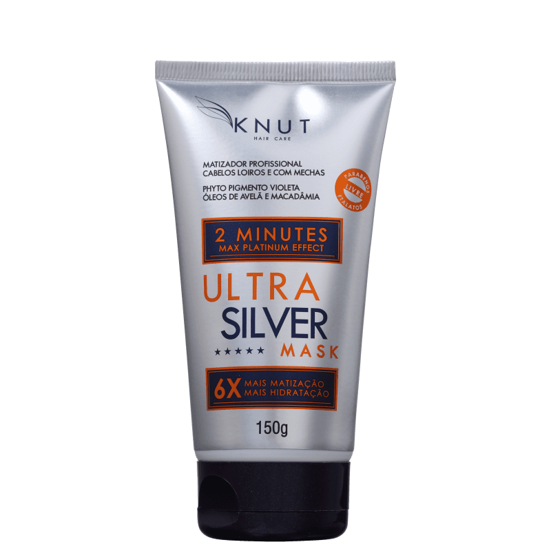 Máscara de Hidratação Knut 2 minuto Ultra Silver - 150g