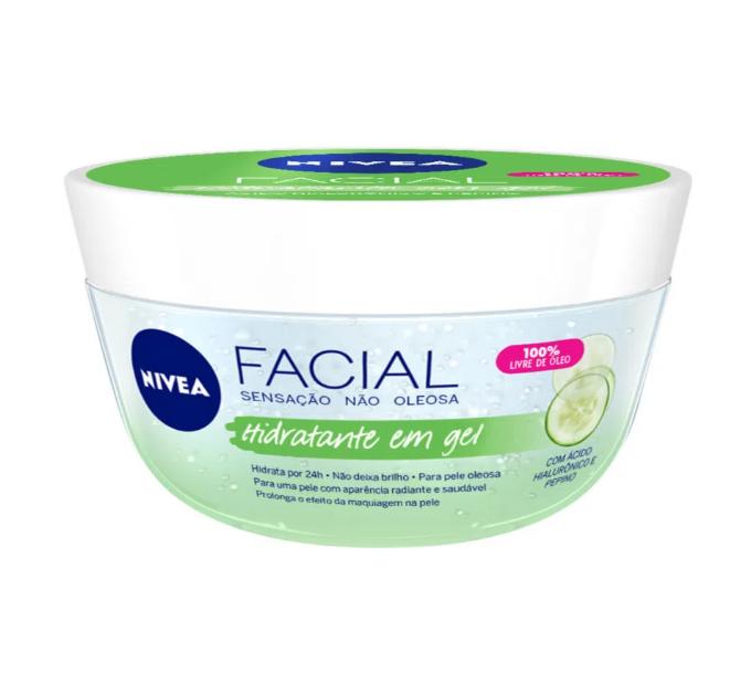NIVEA Ácido Hialurônico e Pepino - Gel Hidratante Facial 100g