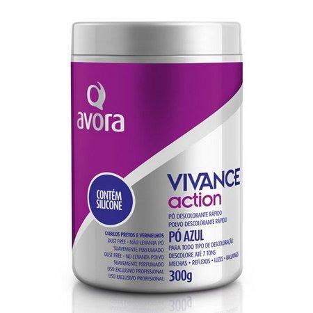 Pó Descolorante Vivance Action Avora 9 Tons Silicone  - 300ml