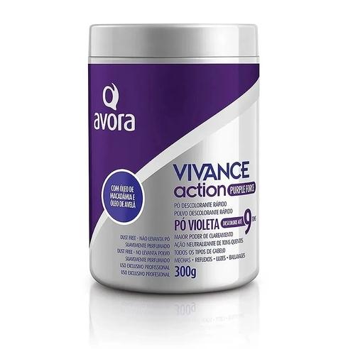 Pó Descolorante Vivance Action Avora - Pó Violeta 9 Tons - 300ml
